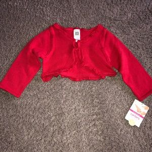 Carter's 12 Months Red Sweater Cardigan, New